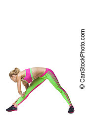 Fitness woman doing stretching exercise