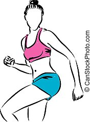 fitness woman illustration