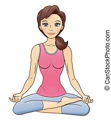 Fitness woman in lotus pose 2