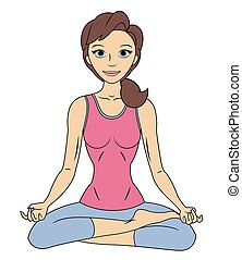 Fitness woman in lotus pose