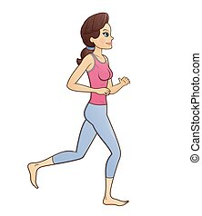 Fitness woman jogging 2