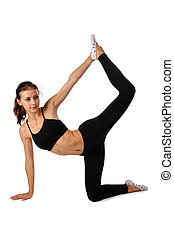 fitness woman making exercise