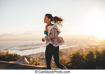 Fitness woman on morning run