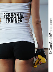 fitness woman personal trainer