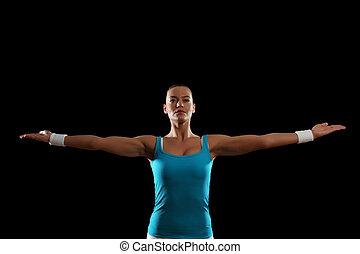 Fitness woman smiling