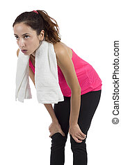 Fitness woman taking a break after workout