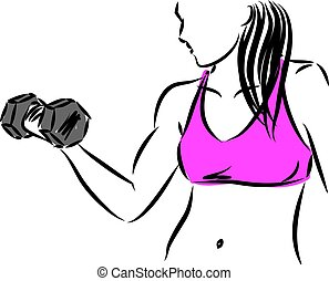 fitness woman vector illustration