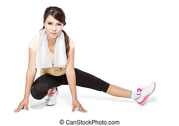 fitness woman warming up