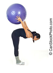 Fitness woman with ball