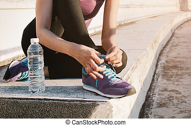 Fitness workout and healthy nutrition concept