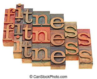 fitness, wort, abstrakt