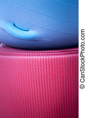 Fitness yoga and pilates foam mat and ball