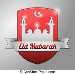 fitr, σήμα , eid, κόκκινο , al