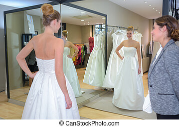 fitting the gown
