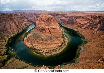 fiume, curva, arizona, colorado, ferro cavallo
