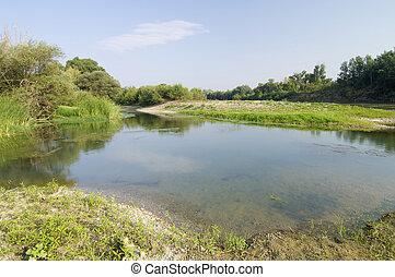 fiume, ebro, banca