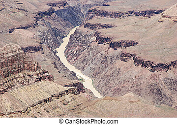 fiume, vista, (2)