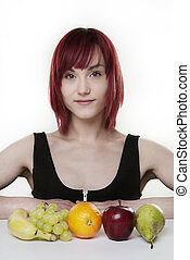 five a day - woman with five fruits you should have every...
