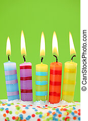 Five birthday candles