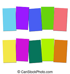 Five Blank Paper Slips Show Copyspace For 5 Letter Words