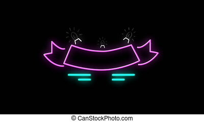 Five Christmas Neon Titles on black background - Animation ...