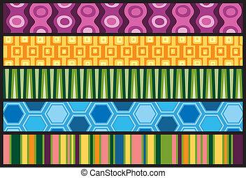 Five Colorful Retro Web Banners