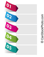 Five Colorful Stickers Infographic - Three colorful stickers...