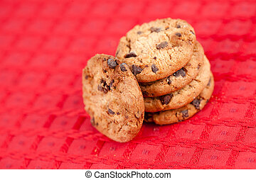 Five cookies laid out together