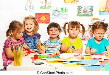 Five creative kids