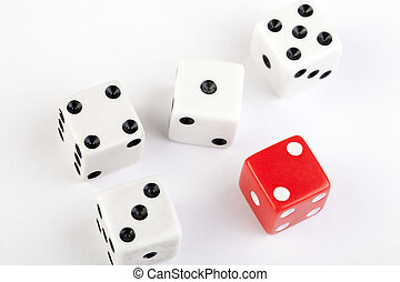 five dice small straight one to five