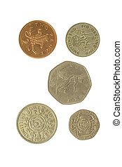 Five English Coins 2 - Photo of five English Coins