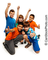 Five exited kids
