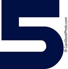Five fat number digit 5