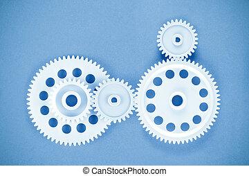 gears meshing togethe