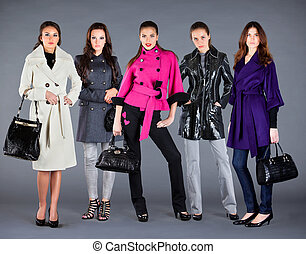 Five girls. Autumn winter collection lady's clothes - Five ...