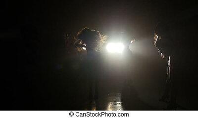 Five girls dance a beautiful dance