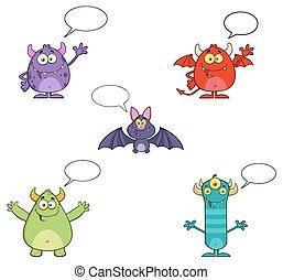 Five Halloween Cartoon Characters