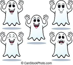 Five Halloween Ghosts
