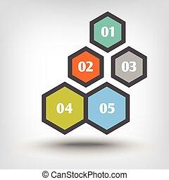 Five hexagons