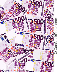 five hundred euro background vertical