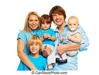 Five members of happy family