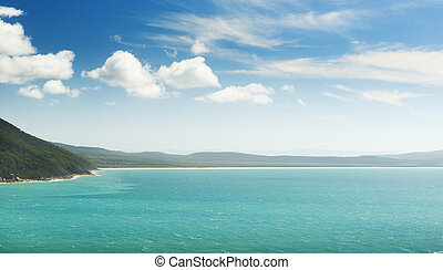 Five Mile Beach Wilsons Promontory - Landscape view of Five...