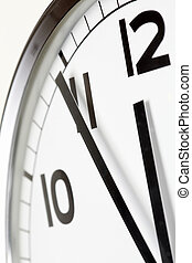 Five minutes to lunch - Photo of clock showing five minutes ...
