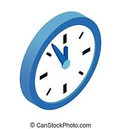 Five minutes to twelve isometric 3d icon