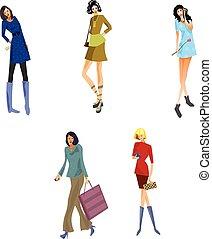 Five modern girls