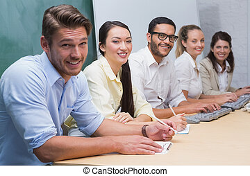 Five person Business team