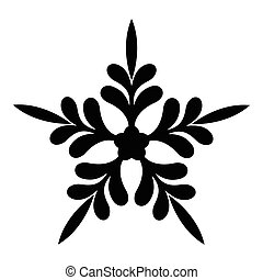 Five pointed star icon, simple style