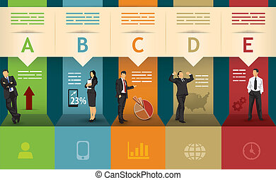 five points statistics - Presentation template of five...