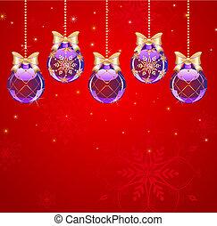 five purple ball