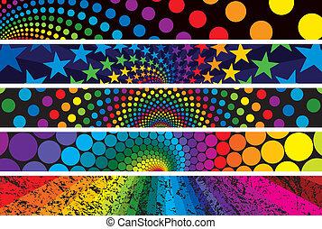 Rainbow Web Banners
